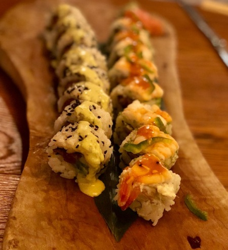 Sushi roll en Sushita café